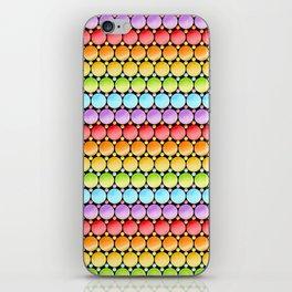 Rainbow Dotty Stripes iPhone Skin