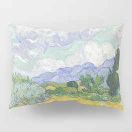 A Wheatfield with Cypresses by Vincent van Gogh Pillow Sham