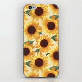 Happy Yellow Sunflowers iPhone Skin