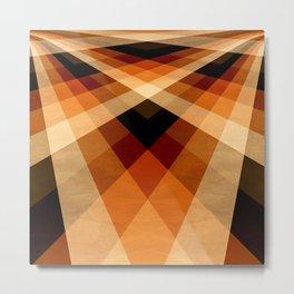 Autumn Groovy Checkerboard Metal Print