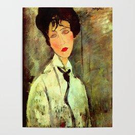 """Amedeo Modigliani """"Woman in Black Tie"""" Poster"""