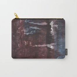 Brown Blue colored watercolor design Carry-All Pouch