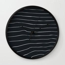 Striped lines Wall Clock