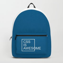 CSS Is Awesome Funny Geek Quote Backpack