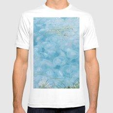 Jellyfish. Mens Fitted Tee White MEDIUM