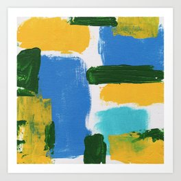 Abstract Expression #3 by Michael Moffa Art Print