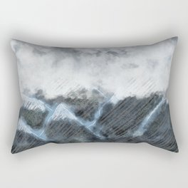 Stormy Mountains Rectangular Pillow