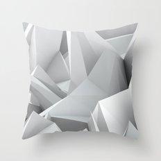 White Noiz Throw Pillow