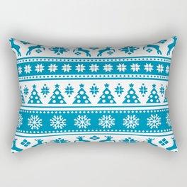 Christmas Holiday Nordic Pattern Cozy Rectangular Pillow
