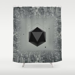 City Intruder Shower Curtain