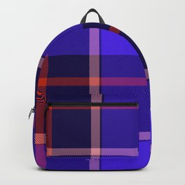 Blue Tartan Print Backpack