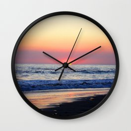 Sunset at Manuel Antonio Wall Clock