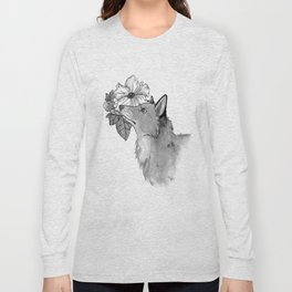 Flower Fox Long Sleeve T-shirt
