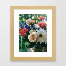 Sunlit Bouquet Framed Art Print