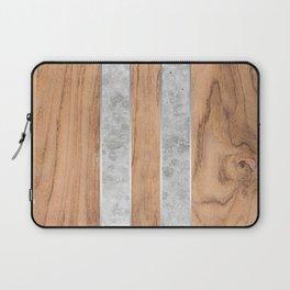 Wood Grain Stripes - Concrete #347 Laptop Sleeve