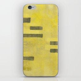 Stasis Gray & Gold 3 iPhone Skin