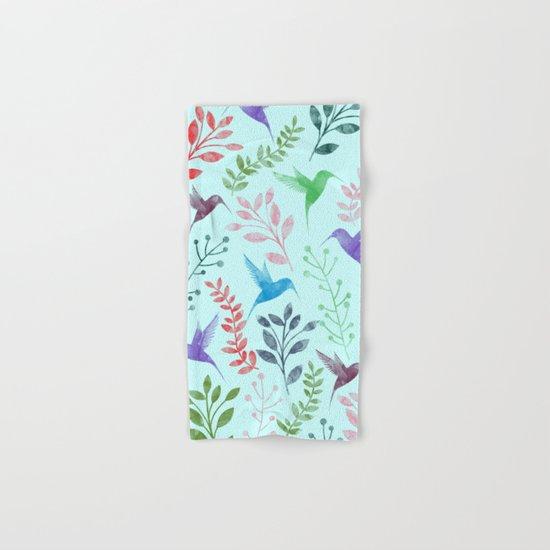 Watercolor Floral & Birds III Hand & Bath Towel