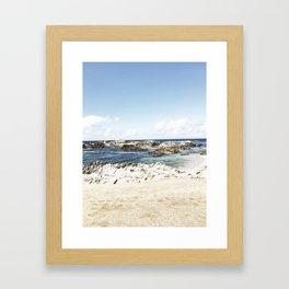 monterey california shore part one Framed Art Print