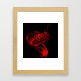 Color Me Red Framed Art Print