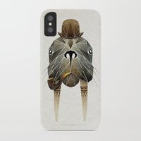walrus iPhone & iPod Cases featuring walrus by Manoou