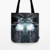 transformer Tote Bags featuring Transformer! by Robin Curtiss