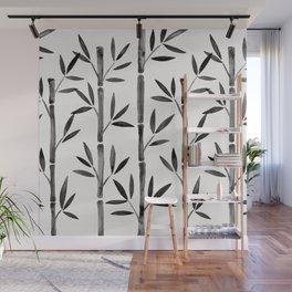 Black Bamboo Wall Mural