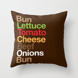 Burgervetica Throw Pillow