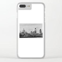 London Skyline Pencil Drawing Clear iPhone Case