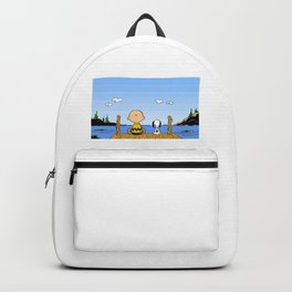 Charlie Brown Snoopy On Dock Backpack