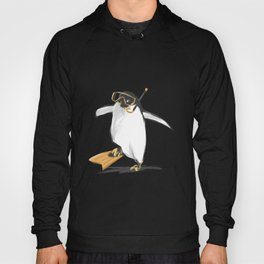 Penguin Is Ready To Dive Hoody