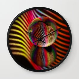 Ocean ripple glass ball Wall Clock