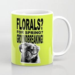 PUG SUKI - FLORALS FOR SPRING - 80S YELLOW Coffee Mug