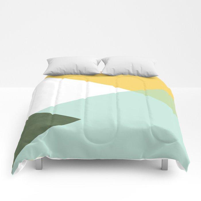 Geometrics - citrus & concrete Comforters