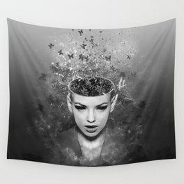 I walk alone to find the way home Wall Tapestry