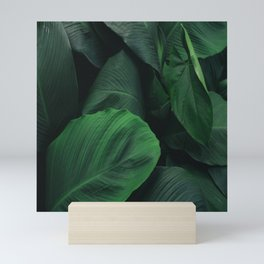 Green Nature Deep Leaves Mini Art Print