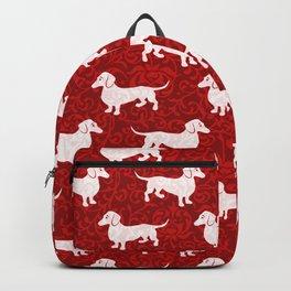 Merry Christmas Dachshunds Backpack
