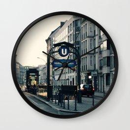 Subway 3 Wall Clock