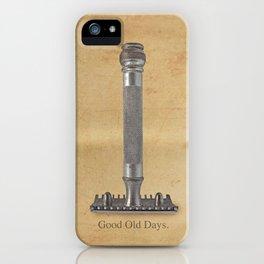 vintage gillette.good old days iPhone Case