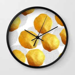 Golden Spots and Polka Dots Wall Clock