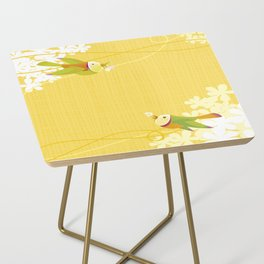 Spring Birds (Yellow) Side Table