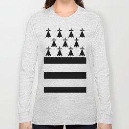 Brittany flag emblem Long Sleeve T-shirt