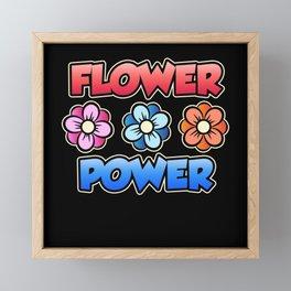 Flower Power Botanic Garden Forces Combined Framed Mini Art Print