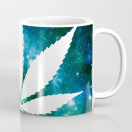 Weed : High Times Green Blue Galaxy Coffee Mug