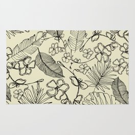 Tropical doodle Rug