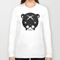 suit Long Sleeve T-shirts featuring Bear Suit by Terry Mack