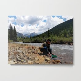 Prospector on Mineral Creek Metal Print