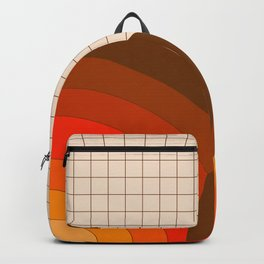 Tan Gridlines Backpack