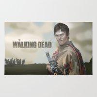 the walking dead Area & Throw Rugs featuring The Walking Dead by ketizoloto