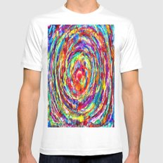 Circle of Love Mens Fitted Tee MEDIUM White