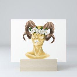 GOAT HORNS Mini Art Print